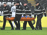 Football - 2018 / 2019 Sky Bet EFL Championship - Swansea City vs. Bolton Wanderers<br /> <br /> Josh Magennis of Bolton Wanderers is stretchered off , at The Liberty Stadium.<br /> <br /> COLORSPORT/WINSTON BYNORTH