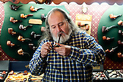 Editorial Travel Photography: Picture of cigar shop owner in Santa Monica, Los Angeles, California