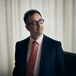 Arnaud Nourry, CEO of Hachette Livre and Lagardere Publishing, posing in his office. Vanves, France. March 19, 2021. <br /> Arnaud Nourry, PDG de Hachette Livre et de Lagardere Publishing, prenant la pose dans son bureau. Vanves, France. 19 mars 2021.