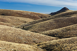 Shadows on folded hills near Grand View, Ladder Ranch, west of Truth or Consequences, New Mexico, USA.