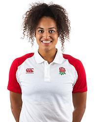 Celia Quansah of England Ruby 7s - Mandatory by-line: Robbie Stephenson/JMP - 17/09/2019 - RUGBY - The Lansbury - London, England - England Rugby 7s Headshots