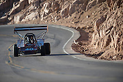 June 26-30 - Pikes Peak Colorado. Donner Billingsley works through sector 2 on the mountain during practice for the 91st running of the Pikes Peak Hill Climb.