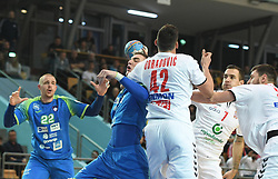Nik Henigman during friendly handball match between Slovenia and Srbija, on October 27th, 2019 in Športna dvorana Lukna, Maribor, Slovenia. Photo by Milos Vujinovic / Sportida