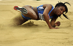 Italian triple  jump athlete Magdelin Martinez in the Qualification at the 1st day of  European Athletics Indoor Championships Torino 2009 (6th - 8th March), at Oval Lingotto Stadium,  Torino, Italy, on March 6, 2009. (Photo by Vid Ponikvar / Sportida)
