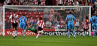 Photo: Alan Crowhurst.<br />Southampton v Coventry City. Coca Cola Championship. 09/08/2006. Grzegorz Rasiak (R) of Saints scores from the penalty spot.