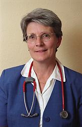 Portrait of doctor wearing stethoscope around her neck,