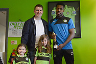 Man of the match award during the Vanarama National League match between Forest Green Rovers and North Ferriby United at the New Lawn, Forest Green, United Kingdom on 1 April 2017. Photo by Alan Franklin.