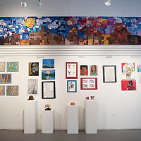 Art showcased at the 6th Annual Youth Art Show including a 40 foot mural from Tohatchi High School students Saturday, March 14 at Art123 Gallery in Gallup. The youth art show showcases 600 students from 14 different schools and will be on display at Art123 Gallery until April 7.