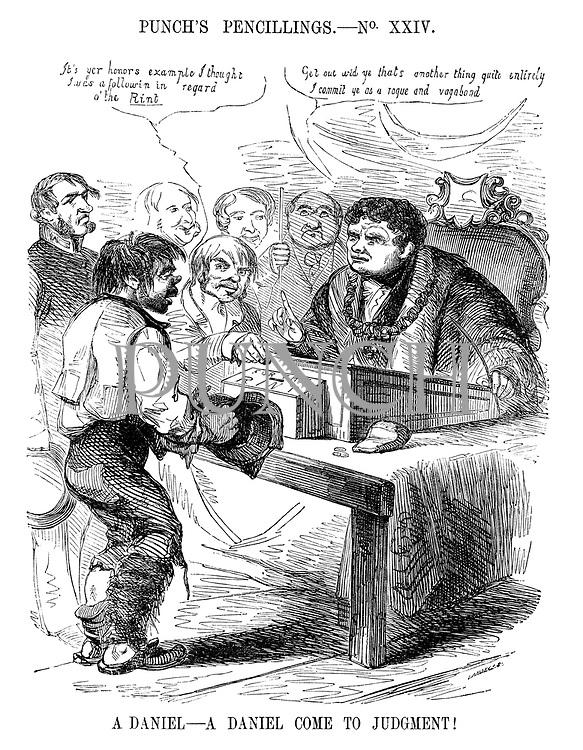 Punch's Pencillings.- No XXIV. A Daniel - A Daniel come to Judgment!