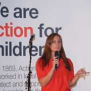 London, UK. 7th October, 2016. Speaker Jodie Meakin of the Fostering SouthEast at Byte Night 2016 - Action for Children to tackle youth homelessness in London at Norton Rose Fulbright, 3 More London Riverside, London, UK. Photo by See Li
