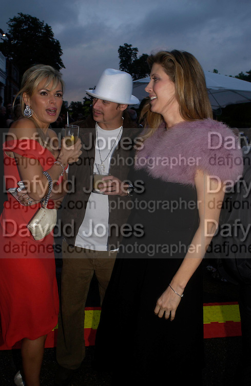 Diana Jenkins, Kid Rock. The Serpentine Summer party co-hosted by Jimmy Choo. The Serpentine Gallery. 30 June 2005. ONE TIME USE ONLY - DO NOT ARCHIVE  © Copyright Photograph by Dafydd Jones 66 Stockwell Park Rd. London SW9 0DA Tel 020 7733 0108 www.dafjones.com