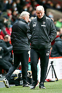 AFC Wimbledon manager Glyn Hodges walking on pitch during the EFL Sky Bet League 1 match between Charlton Athletic and AFC Wimbledon at The Valley, London, England on 12 December 2020.