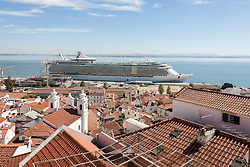 Royal cruise ship at harbour, Lisbon, Portugal