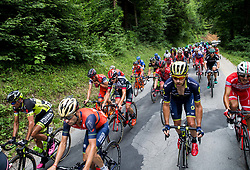 Giovanni Visconti (ITA) of Bahrain-Merida, Mitchell Docker (AUS) of Orica - Scott during Stage 3 of 24th Tour of Slovenia 2017 / Tour de Slovenie from Celje to Rogla (167,7 km) cycling race on June 16, 2017 in Slovenia. Photo by Vid Ponikvar / Sportida