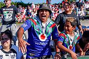Warriors fans. St George Dragons v Vodafone Warriors. NRL Rugby League, Netstrata Jubilee Stadium, Sydney, NSW, Australia, Sunday 18th April 2021 Copyright Photo: David Neilson / www.photosport.nz