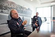 December 11, 2015: Gene Haas, Haas F1 Team Owner, Guenther Steiner, Haas F1 Team Principle