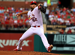 July 28, 2017 - St. Louis, MO, USA - St. Louis Cardinals pitcher Michael Wacha in the second inning against the Arizona Diamondbacks at Busch Stadium in St. Louis on Friday, July 28, 2017. The Cards won, 1-0. (Credit Image: © Christian Gooden/TNS via ZUMA Wire)