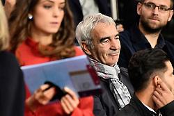 October 7, 2018 - Paris, Ile-de-France, France - Raymond Domenech  attends the French L1 football match between Paris Saint-Germain (PSG) and Olympique de Lyon (OL) on October 7, 2018 at the Parc des Princes stadium in Paris. (Credit Image: © Julien Mattia/NurPhoto/ZUMA Press)