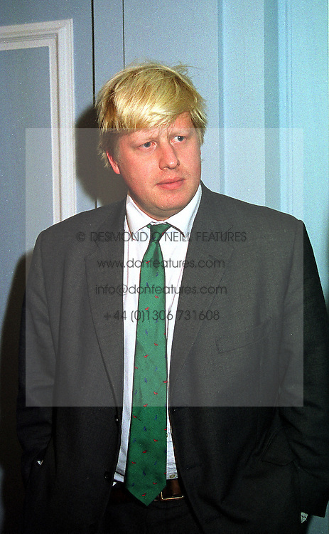 MR BORRIS JOHNSON editor of The Spectator, at a reception in London on 17th November 1999.MZF 55