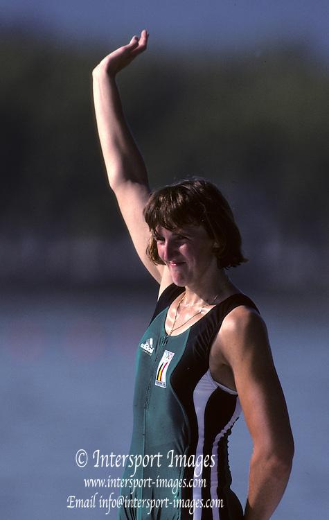 Barcelona, SPAIN. BEL W1X, .Ann Elise BREDAEL. 1992 Olympic Rowing Regatta Lake Banyoles, Catalonia [Mandatory Credit Peter Spurrier/ Intersport Images]