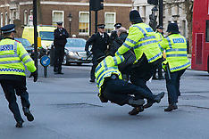 2016-01-18 Arrests as Turkish PM visits Cameron amid Kurdish protests