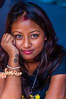Young Nepalese woman, Kathmandu, Nepal.