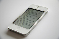 Reading a book on iPhone4s using the ibook app