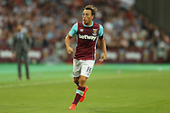 Mark Noble, the West Ham United captain in action. UEFA Europa league, 3rd qualifying round match, 2nd leg, West Ham Utd v NK Domzale at the London Stadium, Queen Elizabeth Olympic Park in London on Thursday 4th August 2016.<br /> pic by John Patrick Fletcher, Andrew Orchard sports photography.
