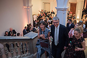 OLGA POLIZZI; WILLIAM SHAWCROSS; , Opening of The New Royal Academy of arts, London. 15 May 2018