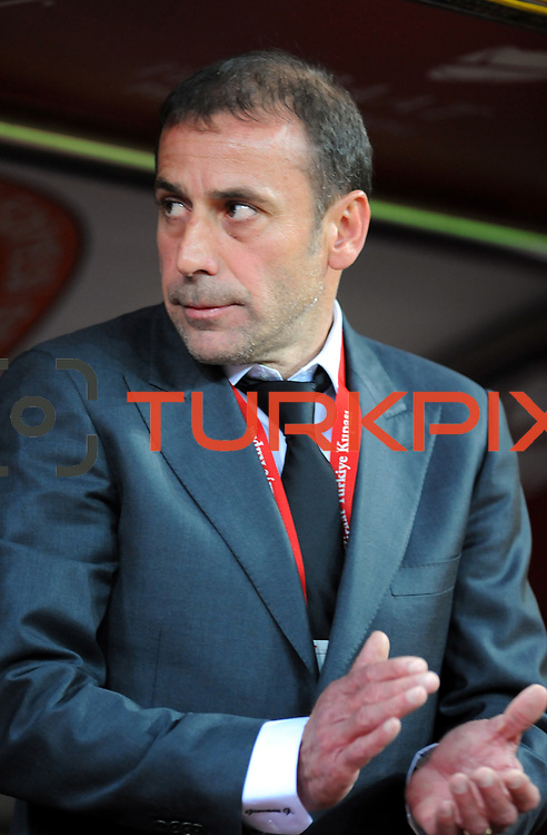 Istanbul BB's coach Abdullah AVCI during their Turkey Cup final match Besiktas between Istanbul BB at the Kadir Has Arena at Kayseri Turkey on wednesday, 11 May 2011. Photo by TURKPIX