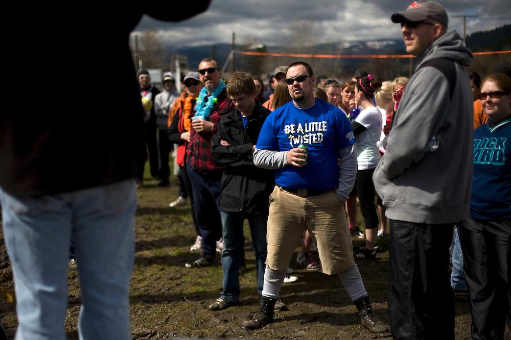 Crowd at the 2011 Mud Volleyball Tournament in Laclede, ID sponsored by the Kodiak Bar. .(©Matt Mills McKnight/2011)