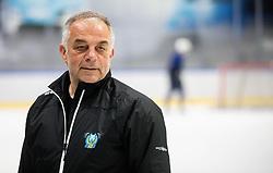 "Matjaz Kopitar, head coach during practice session of Slovenian Ice Hockey National team before ""Beat Covid-19 Ice Hockey Tournament"", on May 12, 2021 in Hala Tivoli, Ljubljana, Slovenia. Photo by Vid Ponikvar / Sportida"
