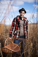 Forager Tyler Gray, cofounder of Mikuni Wild Harvest, pictured at Harriman State park.