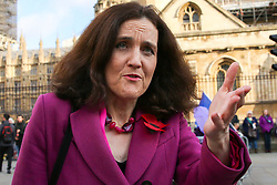 © Licensed to London News Pictures. 05/11/2019. London, UK. Secretary of State for Environment, Food & Rural Affairs THERESA VILLIERS in Westminster. A general election will be held on 12 December 2019. Photo credit: Dinendra Haria/LNP