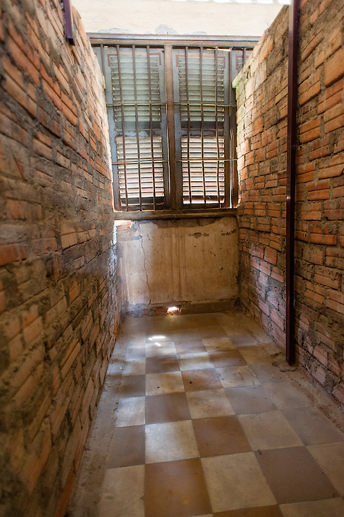 Individual cell at Tuol Sleng Khmer Rouge Prison in Phnom Penh (Cambodia).