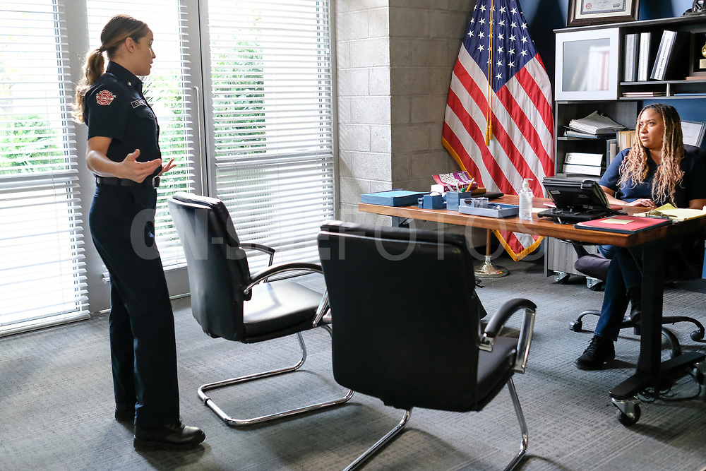 """STATION 19 - """"Get Up, Stand Up"""" – In the wake of national outcry after the tragic murder of an unarmed Black man, Maya brings in Dr. Diane Lewis to grief counsel the team on a new episode of """"Station 19,"""" THURSDAY, APRIL 22 (8:00-9:00 p.m. EDT), on ABC. (ABC/Ron Batzdorff)<br /> TRACIE THOMS"""