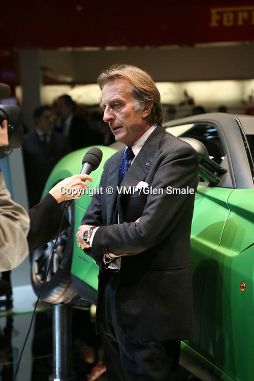 Luca Cordero di Montezemolo, Chairman of Ferrari, Geneva Motor Show 2010
