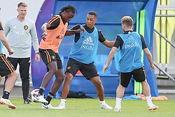 July 8, 2018 - Dedovsk, RUSSIA - Belgium's Dedryck Boyata and Belgium's Youri Tielemans pictured during a training session of Belgian national soccer team the Red Devils in Dedovsk, near Moscow, Russia, Sunday 08 July 2018. The Devils qualified for the semi-finals of the FIFA World Cup 2018, next Tuesday they will meet France. BELGA PHOTO BRUNO FAHY (Credit Image: © Bruno Fahy/Belga via ZUMA Press)