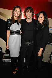 Left to right, DASHA ZHUKOVA, JOHNNY BORRELL and CHRISTINA TANG at a party to celebrate the launch of the Kova & T fashion label and to re-launch the Harvey Nichols Fifth Floor Bar, held at harvey Nichols, Knightsbridge, London on 22nd November 2007.<br /><br />NON EXCLUSIVE - WORLD RIGHTS