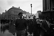 National Farmer's Association Deputation Sit-In at the Department of Agriculture.  Rickard Deasy, President of the N.F.A leading the march. <br /> 19.10.1966