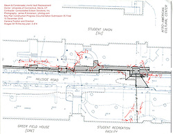 Key Plan 1 of 4 for UConn Steam and Condensate Line and Vault Replacement Project. Task No.:001 Construction Progress Documentation on 15 December 2016