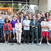 NLD/Hilversum/20190827 - Seizoenspresentatie NPO 2019 / 2020, Goepsfoto NPO presentatoren