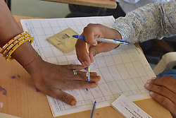 April 29, 2019 - Ajmer, Rajasthan, India - Indian people casting vote during the fourth phase of general elections in Ajmer, India. (Credit Image: © Shaukat Ahmed/Pacific Press via ZUMA Wire)