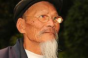 China Yunnan province Lijiang Portrait of an old Naxi man