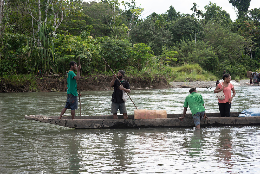 People on the Clay River in Likan, East Sepik Province, Papua New Guinea<br /><br />(June 20, 2019)