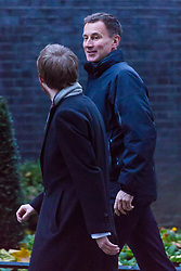 London, November 22 2017. Health Secretary Jeremy Hunt attends the UK cabinet meeting at Downing Street. © Paul Davey