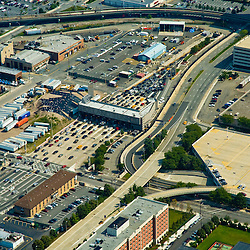Aerial view of the Holland Tunnel on the New Jersey entrance.