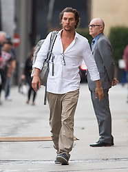 Matthew McConaughey is seen at 'Jimmy Kimmel Live' in Los Angeles, California. NON EXCLUSIVE May 21, 2018. 21 May 2018 Pictured: Matthew McConaughey. Photo credit: RB/Bauergriffin.com / MEGA TheMegaAgency.com +1 888 505 6342