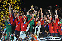 FOOTBALL - FIFA WORLD CUP 2010 - FINAL - NETHERLANDS v SPAIN - 11/07/2010 - PHOTO FRANCK FAUGERE / DPPI - CELEBRATION SPAIN AFTER WINNING THE WORLD CUP TROPHY - IKER CASILLAS