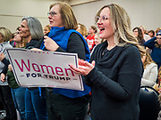 16 JANUARY 2020 - DES MOINES, IOWA: People cheer during the Women for Trump rally in Airport Holiday Inn in Des Moines. About 200 women attended the event, which featured Lara Trump, Mercedes Schlapp, and Kayleigh McEnany, surrogates on the campaign trail for President Donald Trump.        PHOTO BY JACK KURTZ